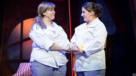 Jodie Prenger and Sam Bailey in Fat Friends the Musical