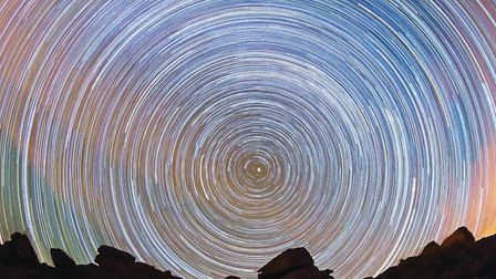 Great Staple Tor star trail. A series or over 400 images taken over a four- hour period and blended