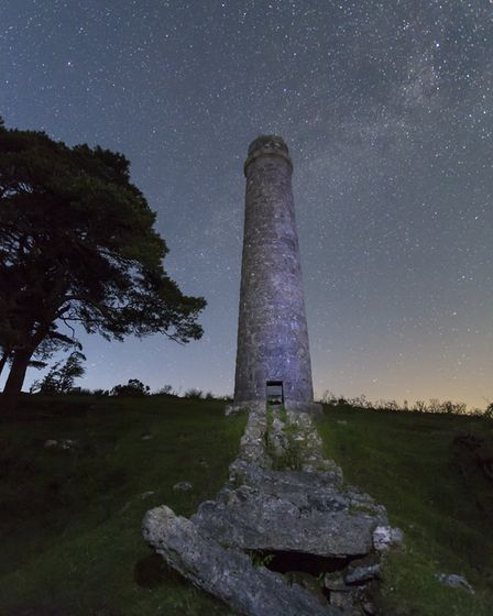 Powder Mills with the Milky Way above