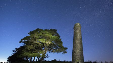 Powder Mills with the Northern hemisphere constellations above