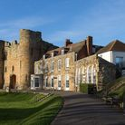 Tonbridge Castle is the best surviving motte and bailey gatehouse in the country
