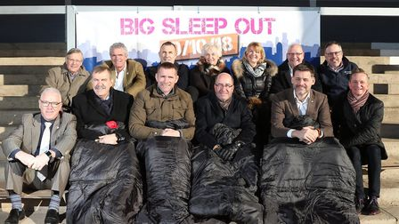 Gloucestershire business leaders commit to spend the night sleeping outside in support of CCP's Big