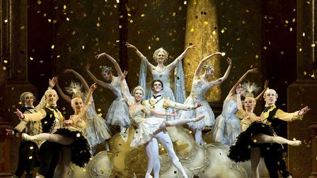 The grand finale for Sleeping Beauty, Birmingham Royal Ballet