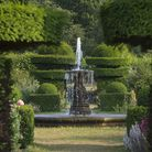 Topiary skills evident in the hedges surrounding the West Garden at Hatfield House (photo: Philippa