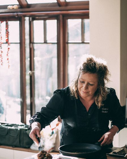 Chef Claire Lynch at her home on the edge of Exmoor: 'I feel blessed every day'