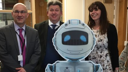 Professor Richard Benham carried out the first online safety lesson with Year 7 pupils at Chosen Hil