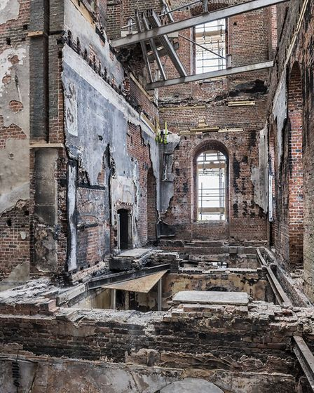 Looking up through the fire damaged building at Clandon Park, Surrey _National Trust Images, Andreas