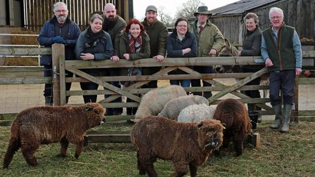Cheshire Smallholders Association members; (from the left); Kevin Holmes, Melanie and Nick Webb, Car