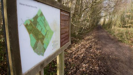 Warren Woods Nature Park extends across 46 acres of native woodland and it's a natural space for dog
