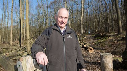 Clive Steward manages several significant Woodland Trust woodlands in the Kent Downs (photo: Manu Pa