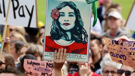 Women's March, Wellington, NZ, © Andy McArthur, Hope to Nope: Graphics and Politics 2008-18, The Des