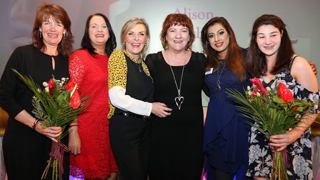 Menna Fitzpatrick, far right, with other 2017 winners, from left: Alison Loveday (Professional and F