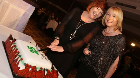 Cutting a cake last year to celebrate 25 years of Inspiring Women Awards was founder Jacqueline Hugh