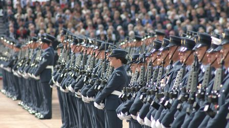 The Royal Air Force marked its 90th anniversary in style with its biggest ever parade for the presen
