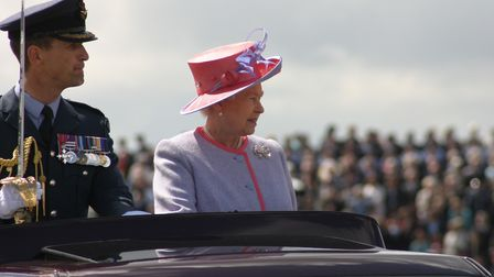 HRH The Queen at the Air Tattoo in 2008 (c) MOD Crown Copyright
