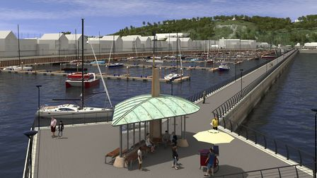 An artist's impression of the Dover Western Docks Revival plan