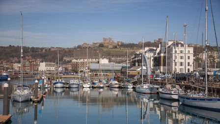 Dover's busy harbour with the Castle in the background (photo: Manu Palomeque)