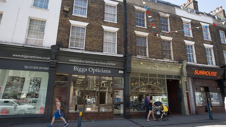 Plenty of independent shopping and eating opportunities on Dover's busy High Street (photo: Manu Pal