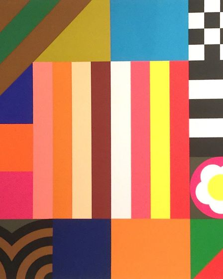 A rose is a rose is a rose, part of a triptych by Sir Peter Blake, Wet Paint Gallery