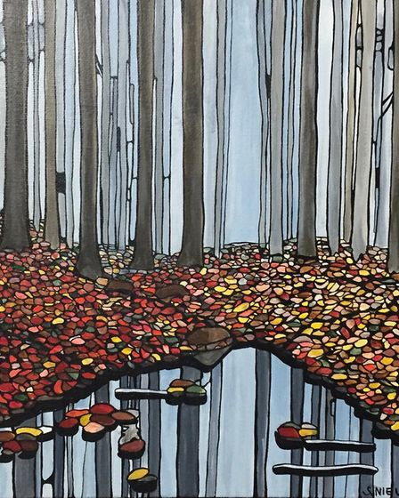 Reflecting fall by Suse Nielebock