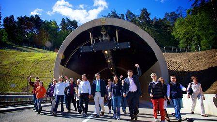 Hindhead Tunnel opening in 2011 © Group Q Photography