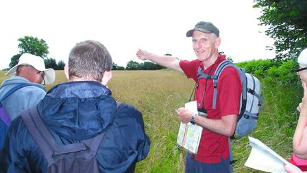Peter Arnold leaving a map reading course