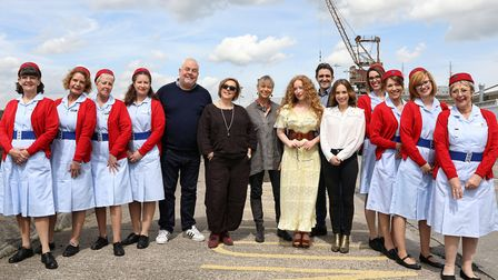 Members of the cast of Call the Midwife at The Historic Dockyard Chatham (photo: Daniel Turner)