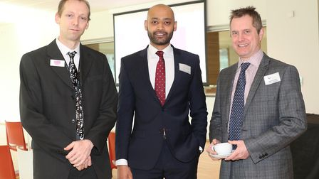 James Geary from Randall & Payne, Olly Chowdhury from Natwest and James Gayer from Natwest