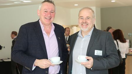 Jonathan Viney from Simplicity and Laurence Smith from SK Heating & Cooling