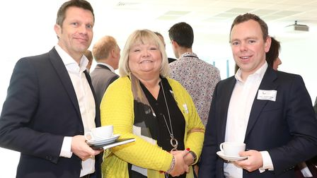 Alex Wheeler from Brewin Dolphin, Julie Butters from Hotel Du Vin and Paul Whitehead from Brewin Dol