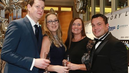 Chris Revell, Laura Hudson with Dionne and Toby Connew from Omega