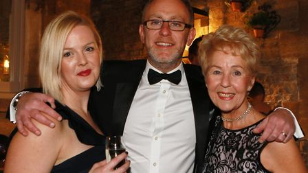 Lucy and Alan Berisford, owner of Omega and Judy Braithwaite from Omega