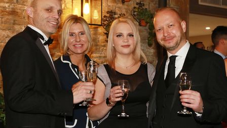 Andy and Karen Hawker from Laithwaites with Marta Borszcz and Vlad Skokan from Omega