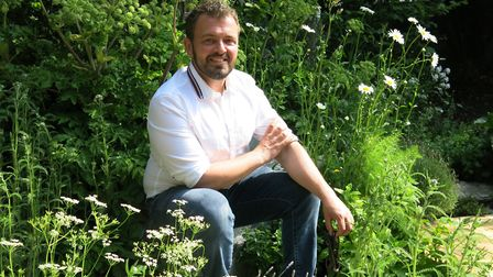 Paul Hervey-Brookes in his gold-winning garden at RHS Chelsea Flower Show.Photo by Mandy Bradshaw