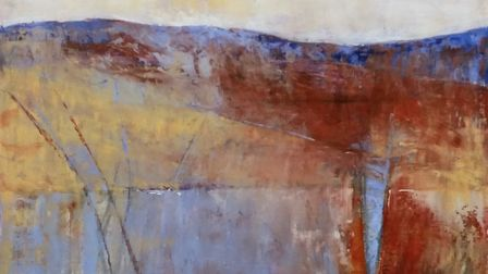 Little Buckland Gallery: Abstract landscape, by Arabella Kiszely