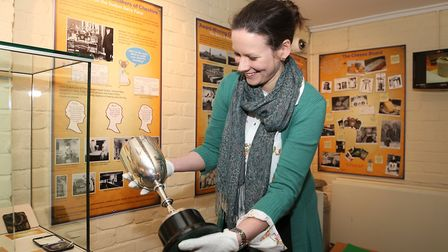 Kate Dobson in the cheese room at Nantwich Museum