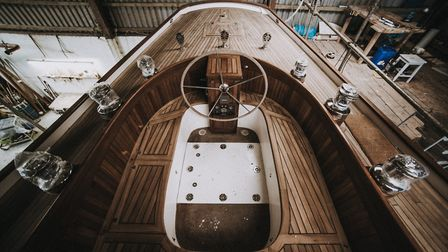 The yacht Helena is a lesson in the art of recycling