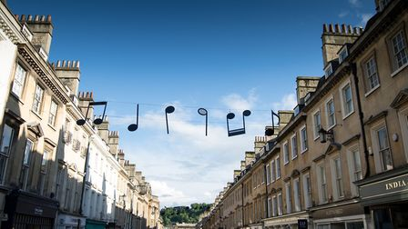 Musical notes on Milsom Street (c) James Cheadle