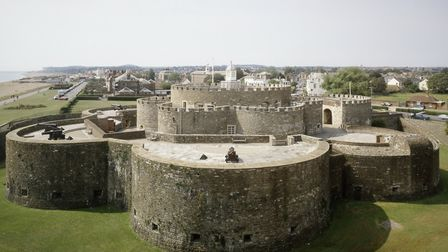 View of Deal castle from the north (photo: Jonathan Bailey for English Heritage)