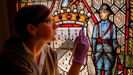 Deal Castle chapel, where the stained-glass window is now restored (photo: Jim Holden for English He