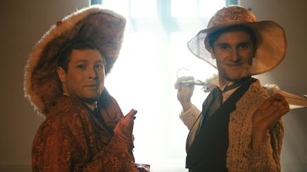 Jack Coleby as Gwendolen Fairfax and Alex Hooper as Cecily Cardew