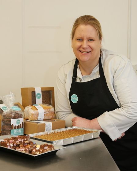 Marianne Evans of Lottie's Bakehouse with a selection of products