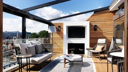 Relax in your own private terrace with London at your feet