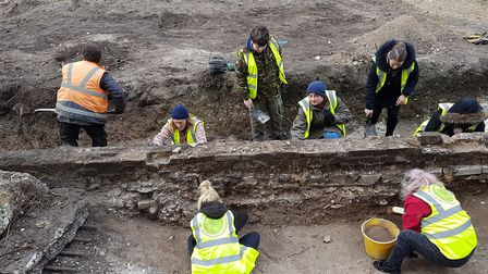 Working being carried out at Margate Caves (photo: Dan Thompson Studios)