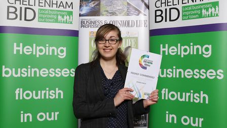 Highly Commended Profesional Services Business of the Year Lizzy Richards from Stagecoach