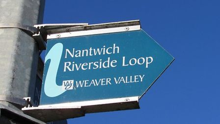 Signs to the Nantwich Riverside loop