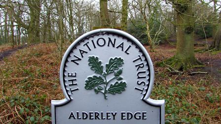 A sign in Windmill Wood at Alderley Edge
