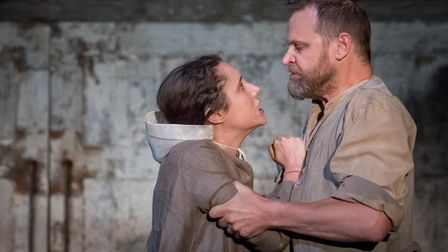 Eleanor Sutton, Matthew Flynn in The Crucible, Storyhouse Chester Credit: Mark Carline