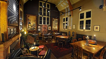 Dining area at the Cholmondeley Arms, near Malpas