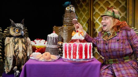 Awful Auntie @ Manchester Opera House Aunt Alberta played by Timothy Speyer Photo by Mark Douet